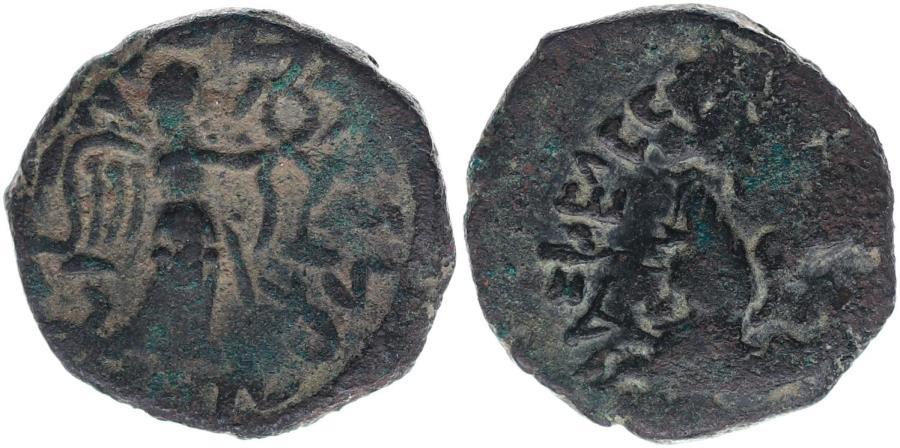 Ancient Coins - Abdagses. Circa 5 BC-AD 19/20. Æ Tetradrachm (8,37 g,).
