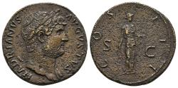 Ancient Coins - Hadrianus, 117-138.  Æ-Sesterz, 124/127, Rom; 25,61 g.