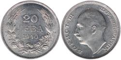World Coins - Bulgarien 20 Lewa, 1940