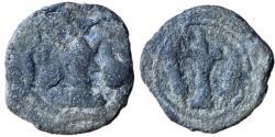 Ancient Coins - Ancient SASANIAN KINGDOM: Shahpur II, 309-379, lead pashiz (4.30 g/ 18mm), NM, ND, G-—, standard design, , Fine