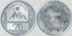 Us Coins - 1976 Spirit of Denver Parade, Denver, Colorado, Almost Uncirculated