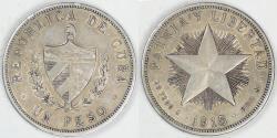 World Coins - CUBA - 1st Republic, 1915 Peso, Choice EF