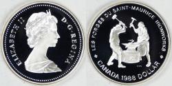 World Coins - CANADA, Elizabeth II, 1988 Dollar, Gem Proof DCAM