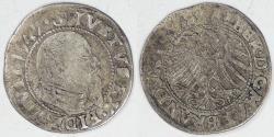 World Coins - GERMANY - Prussia, Albrecht, 1547 Groshen, Choice Fine