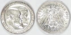 World Coins - GERMANY - Württemberg, Wilhelm II, 1911 F, 3 Mark, BU