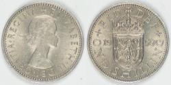 World Coins - GREAT BRITAIN, Elizabeth II, 1959 Shilling, Choice AU