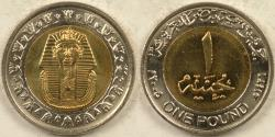 World Coins - EGYPT, AH1426-2005 Pound, Gem BU