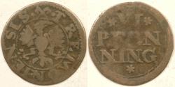 World Coins - GERMANY - Dortmund, Leopold, ND (1658-88) Pfenning (½ Schilling), F / VG