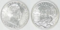 World Coins - ROMANIA - Kingdom, Mihai I, 1946, 25000 Lei, Uncirculated