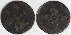 World Coins - FRANCE - Kingdom, Louis XIV, 1712, 6 Deniers, about Fine