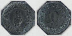 World Coins - GERMANY - Schwäbisch Hall, Württemberg (Notgeld Coinage), 1917, 10 Pfennig, EF