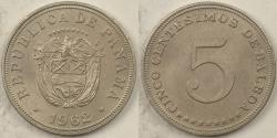 World Coins - PANAMA - Republic, 1962, 5 Centesimos, BU
