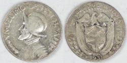 World Coins - PANAMA - Republic, 1931, 1/10 Balboa, Very Fine