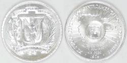 World Coins - DOMINICAN REPUBLIC, 1974 Peso, Gem BU