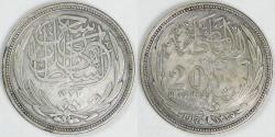 World Coins - EGYPT - British Protectorate, Hussein Kamil, AH1335-1917, 20 Piastres, Choice Very Fine