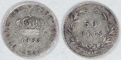 World Coins - PORTUGAL - Kingdom, Luís I, 1863, 50 Reis, Very Fine