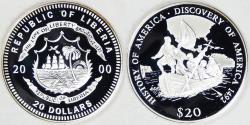 World Coins - LIBERIA - Republic, 2000, 20 Dollars, Gem Proof DCAM