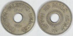 World Coins - PALESTINE - British Administration, 1940, 10 Mils, EF details
