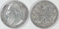 World Coins - BELGIUM - Kingdom, Leopold II, 1904, 2 Francs (2 Frank), Fine