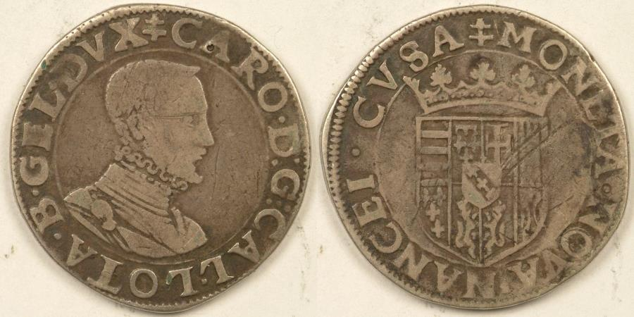 World Coins - GERMANY - Lorraine, Karl II (1545-1608), ND Teston, Fine