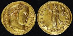 Ancient Coins - ROME IMPERIAL, Maximinus II as Augustus (310-313 AD), 311-313 AD, Gold Aureus, graded Choice AU by NGC