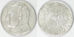 World Coins - POLAND - Republic, 1934, 10 Złotych EF/AU