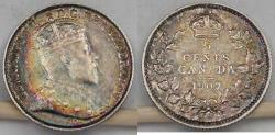World Coins - CANADA, Edward VII, 1907, 5 Cents, Almost Uncirculated