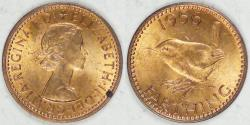 World Coins - GREAT BRITAIN, Elizabeth II, 1956 Farthing, Brilliant Uncirculated