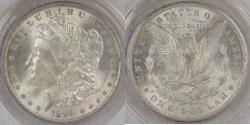 Us Coins - 1890 Morgan Dollar graded MS-63 by ANACS
