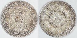 World Coins - NEPAL - Shah Dynasty, Prithvi Bir Bikram, SE1825 (1903) Mohar, Choice EF