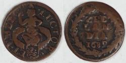 World Coins - NETHERLANDS - Zeeland, 1689 Duit, Choice Fine