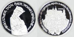 World Coins - GERMANY, 1980, 750th Walther von der Vogelweide Silver Medal, Gem Proof Deep Cameo