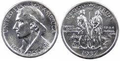 Us Coins - 1937-S Daniel Boone Half Dollar, MS-63