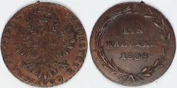 World Coins - AUSTRIA - County of Tyrol, Insurrection Coinage, 1809 Kreuzer, Almost Uncirculated