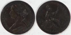 World Coins - GREAT BRITAIN, Victoria, 1863 Penny, Choice Extra Fine
