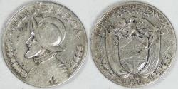 World Coins - PANAMA - Republic, 1930 ½ Balboa, Fine
