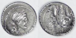 Ancient Coins - ROMAN IMPERATORIAL, Julius Caesar (49-44 BC), 46-45 BC, AR Denarius, EF details