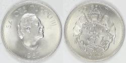 World Coins - TONGA - Kingdom, Taufa'ahau Tupou IV, 1967, 50 Senti, Gem BU