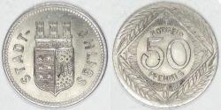 World Coins - GERMANY - Ohligs, Rhineland (Notgeld Coinage), 1920, 50 Pfennig, Choice BU
