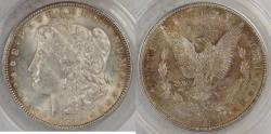 Us Coins - 1886 Morgan Dollar graded MS-63 by ANACS rev color