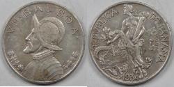 World Coins - PANAMA - Republic, 1934 Balboa, Choice Extra Fine