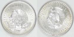 World Coins - MEXICO - Estados Unidos, 1948, 5 Pesos, Brilliant Uncirculated
