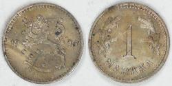 World Coins - FINLAND - Republic, 1926 S, Markkaa, AU details