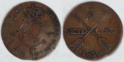 World Coins - SWEDEN, Carl XIV Johan, 1830, ¼ Skilling, about VF