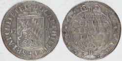 World Coins - GERMANY - Electorate of Pfalz, Karl Philipp, 1727, 20 Kreuzer, Choice VF