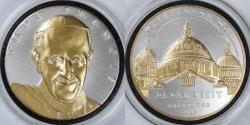 Us Coins - 2015 Washington DC Papal Visit Gold-Embellished Silver Medal