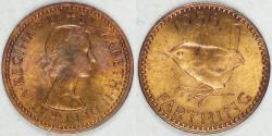 World Coins - GREAT BRITAIN, Elizabeth II, 1956 Farthing, Choice BU