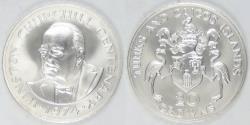 World Coins - TURKS & CAICOS ISLANDS - British Colony, 1974, 20 Crowns, Gem BU
