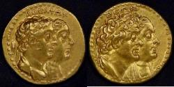 Ancient Coins - PTOLEMAIC KINGDOM - Alexandria, Egypt, Ptolemy II Philadelphus (285-246 BC), Gold Tetradrachm, graded about Extremely Fine by ACCS