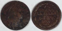 World Coins - ITALY - Naples, Bourbon Rule, Ferdinando IV, 1788 P/CC Grano, Choice Fine